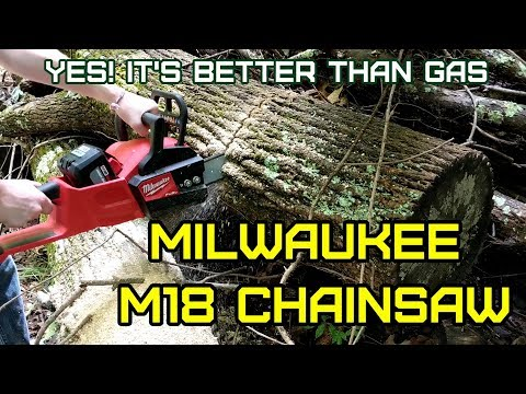 M18 Milwaukee Battery Chainsaw 2727-21HD Test, Review, Hands-on. Better than gas!