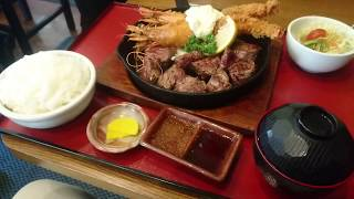 松山駅前にある超巨大エビフライとステーキのお店〜Jふらんく〜