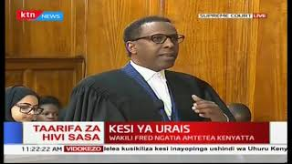 Ahmednassir Abdullahi presents his address on the second day of Supreme Petition hearing