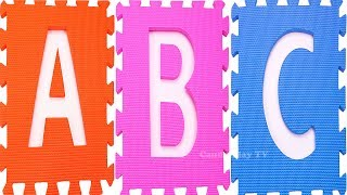 ABC Song For Kids |Learn Alphabet from a to z |Learn Colors with Squishy Glitter Foam |Alphabet Song