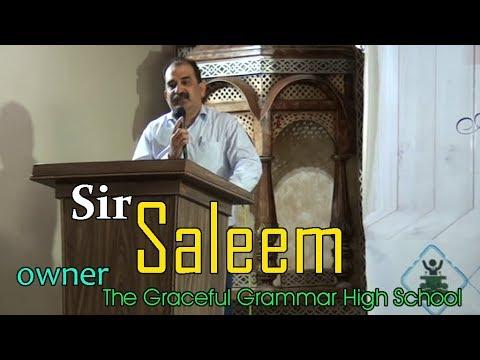 Taleem Dulat ki muhtaj nahi, Speech Sir Saleem