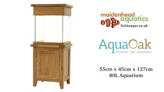 Aqua Oak 'Small Cube' Aquarium and Cabinet (AQ55C)
