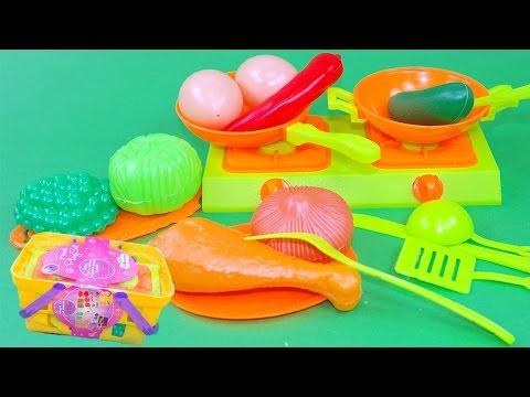 Apertura Scatola Gioco Food Playset verdure posate pentole e fornelli  per una perfetta cucina