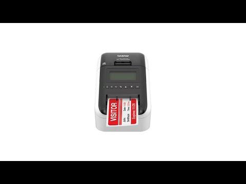 Brother QL-820NWB, imprimanta termica profesionala etichete, ultra flexibila, optiuni multiple conectivitate WLAN, Bluetooth 2.1, USB 2.0, Afisaj LCD, Cutter automat, printare negru si rosu