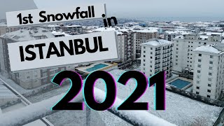 First Snow Fall in Istanbul 2021 | ISTANBUL SNOW FALL 2021🌨❄❤