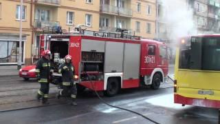 Pożar W Autobusie MPK. Wrocław 15.12.2009