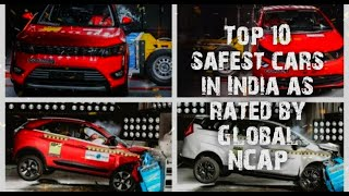 Top 10 safest cars in India as rated by Global NCAP | Safest Cars | Top Ten World | #toptenworld - RATE