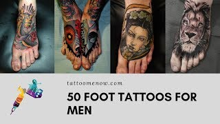 50 Foot Tattoo Designs For Men