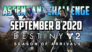 Ascendant Challenge September 8 2020 Solo Guide | Destiny 2 | Corrupted Eggs & Lore Location