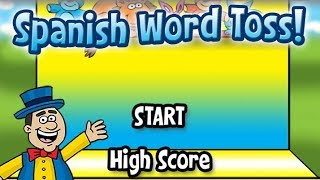 Spanish Word Toss - Fourth Grade Word Games