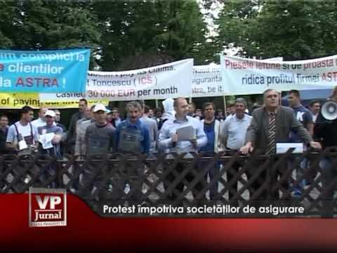 Protest împotriva societăţilor de asigurare