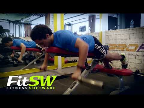 Barbell Lying Rear Delt Row: Back, Delt Exercise Demo How-to