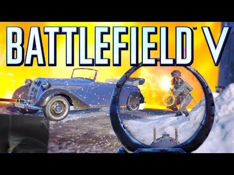 Battlefield V: I feel bad for killing this Noob (Firestorm Gameplay)
