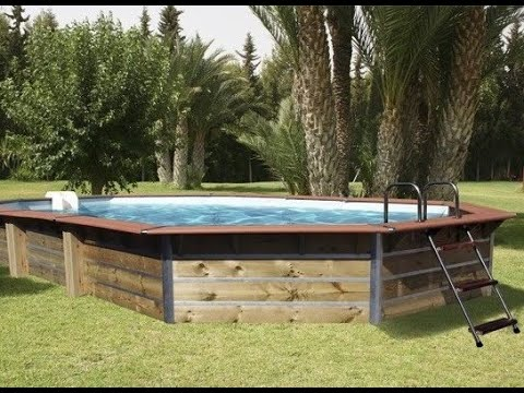 Piscine bois Cleofas 460x460x129cm