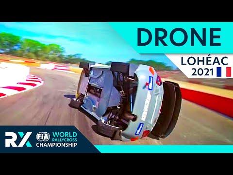 世界ラリークロス フランス( エアロック)2021年 ドローン映像で見るRXクラス動画