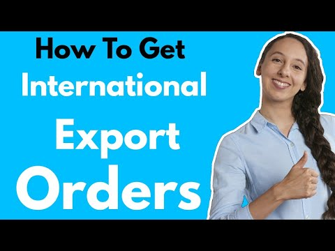 How to Get Export Order : Import Export Business