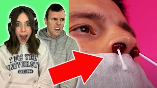 SCARING MY DAD WITH WEIRD MAN HACKS!!