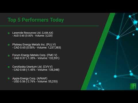 InvestorChannel's Uranium Watchlist Update for Wednesday,  ... Thumbnail