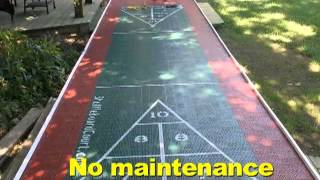 Why a plastic shuffleboard court?