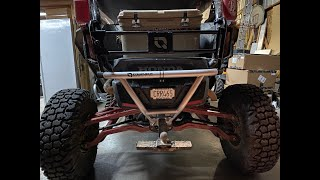 Honda Talon opening rear tailgate by HMF. Rear Bumper. Trailer hitch receiver How to install.