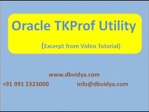 TKPROF And Oracle Trace
