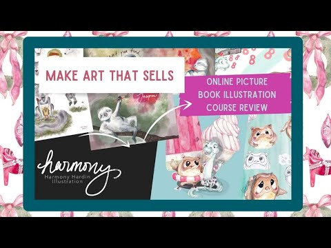 MAKE ART THAT SELLS Online Illustration Class Review | Illustrating Children's Books | Paint with me