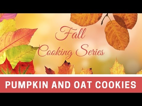 Fall Cooking Series 2016 | Pumpkin Oat Cookies | 2 smart points