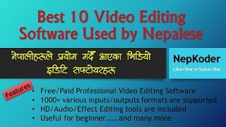 Best 10 Video Editing Software Used by Nepalese