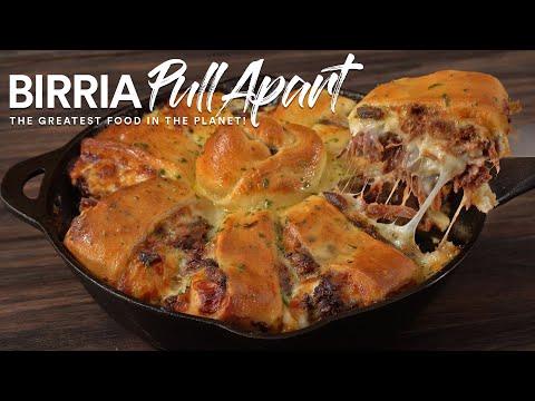 Birria Pull Apart Garlic Bread, The Greatest Sous Vide Dish!