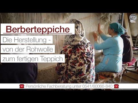 Berberteppich-Produktion – von der Rohwolle zum fertigen Teppich
