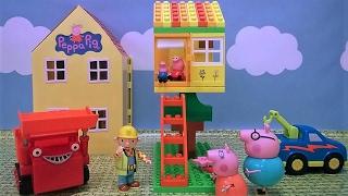 Bajka Świnka Peppa po polsku. Bob budowniczy buduje Peppie domek na drzewie