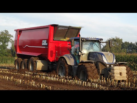 Mais hakselen 2017 | Modderen | Stuck in the mud | John Deere + Fendt + New Holland | J. de Heus.