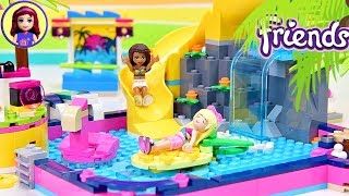 Does Heartlake City REALLY Need Another Pool? Lego Friends Andreas Pool Party Build