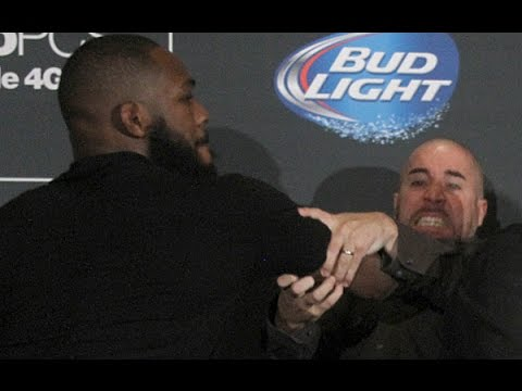 Jon Jones and Daniel Cormier Brawl