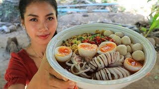 Yummy cooking noodle with squid recipe - Natural Life TV Cooking