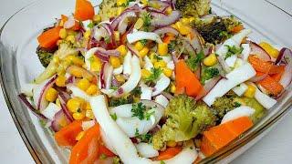 ОБЯЗАТЕЛЬНО ПОПРОБУЙТЕ! Очень вкусный салат с Кальмарами и Брокколи