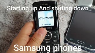 Starting up And shuting down Samsung phones