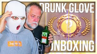 CS:GO DRUNK GLOVE UNBOXING WITH PAPA