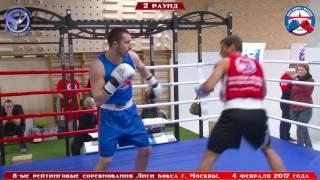 8-ые рейтинговые бои Лига бокса г. Москвы  – 04.02.17 г. до 81 кг.
