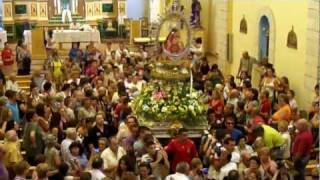 preview picture of video 'Septenario de Moya -2011- Salida de la virgen de la  iglesia de  Landete.'
