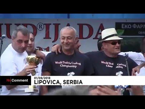 العرب اليوم - شاهد: مسابقة عالمية في صربيا لطبخ خصى الحيوانات
