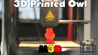 M3D Micro 3D Printer - Printing a low poly Owl.