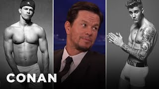Mark Wahlberg Justin Bieber Sent Me His Calvin Klein Ad   CONAN On TBS