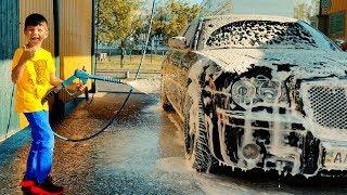 Помыли грязную машину после прогулки