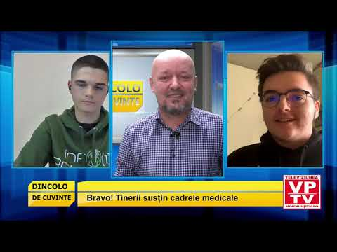 Tinerii susțin cadrele medicale