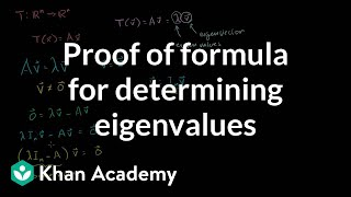 Linear Algebra: Proof of formula for determining Eigenvalues