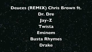 Deuces (REMIX)- Chris Brown ft. Dr. Dre, Jay-Z, Twista, Eminem, Busta Rhymes, Drake