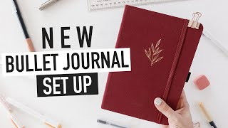 Starting a NEW BULLET JOURNAL | easy setup & spread ideas