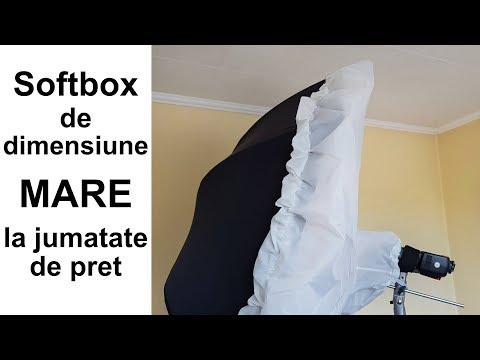 Umbrela de reflexie + difuzie pentru umbrela = softbox de dimensiune mare la jumatate de pret