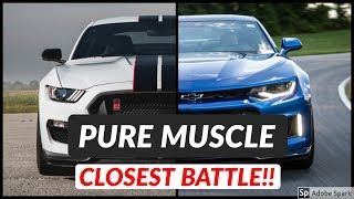Shelby Mustang GT350R Vs Chevrolet Camaro ZL1  | Top Speed And Acceleration Comparison - Head 2 Head